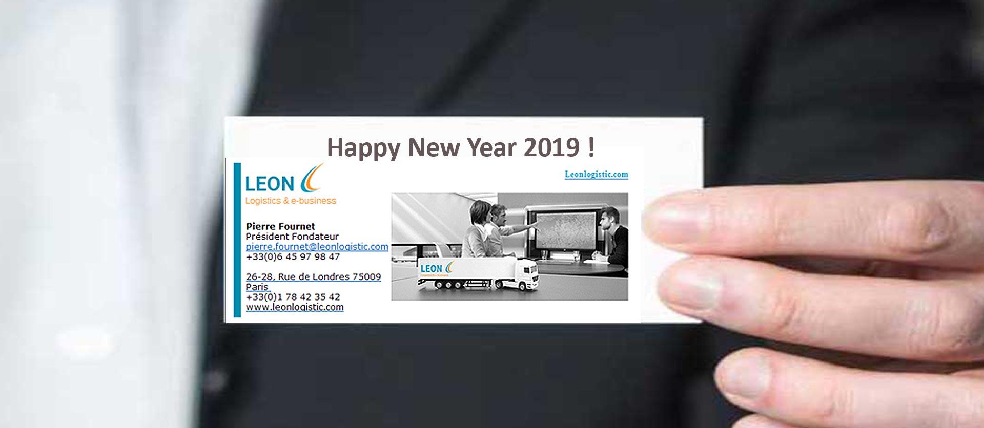 Toute l'équipe de LEON vous souhaite une excellente année 2019 !